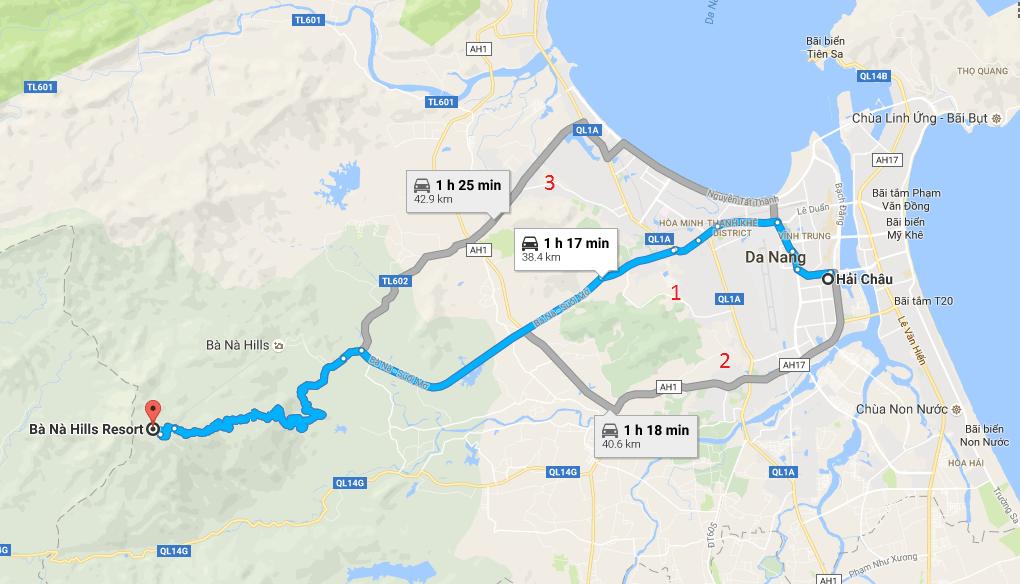 Bản đồ du lịch Bà Nà